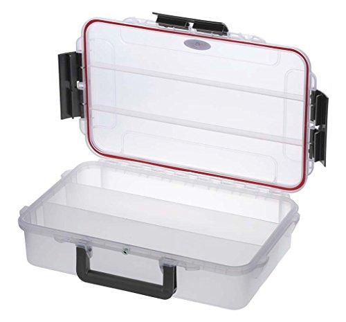 Plastica Panaro Valigetta Pesca MAX004T, per Trasportare, Proteggere e Organizzare l'Attrezzatura, Trasparente, Dimensioni Esterne 350 x 230 x H86 mm