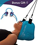 Neck Cloud Traction Hammock for Neck Relief – Bonus Neck Roller Included - Cervical Traction and Relaxation Device for Home – Neck Suspension Sling for Neck Pain, Headache, Decompression