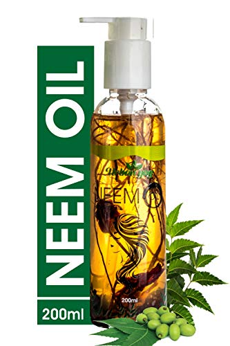 Urban yog Ayurvedic jadibuti Neem Oil for Hair, Face & Skin Care | Enhance Growth for Dry and Damaged Hair, Best Skin Moisturizer with Herbs for a Lice Free, Healthier Scalp and Acne-Prone Skin (200 ml)
