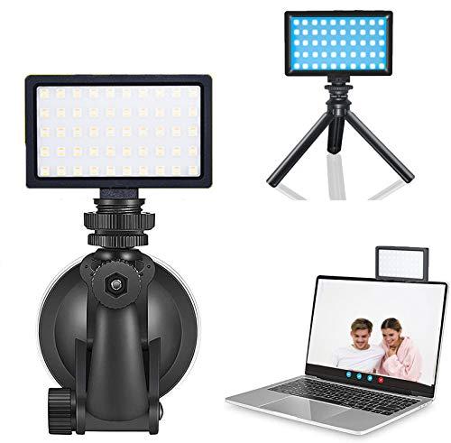 Luce video LED RGB 3200K-5600K Kit treppiede per luce video Mini Vlog CRI 95 Dimmerabile Luce di riempimento RGB colorata Illuminazione fotografica Batteria incorporata per studio fotografico