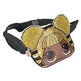 L.O.L. Surprise ! Riñonera para Niñas Y Adolescentes En 3D | Colección De Confetti Pop Representando A Queen Bee, Merbaby, Kitty Queen y Unicorn | Útiles Riñoneras O Bandoleras (Queen Bee)