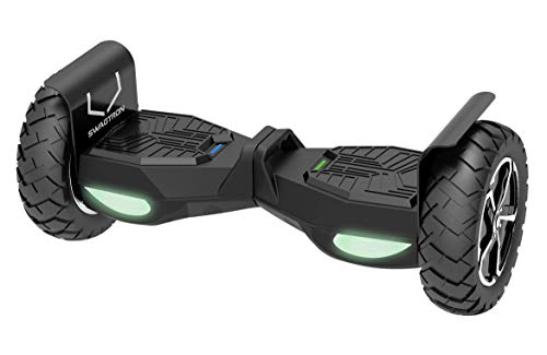 Swagtron Swagboard Outlaw T6 Off-Road Hoverboard - First in The World to Handle Over 380 LBS, Up to 12 MPH, 10' Wheel, Black