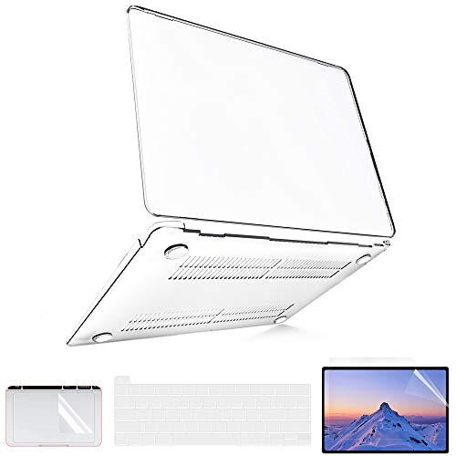 Funda MacBook Pro de 13 pulgadas 2020 a 2016 (Modelo: A2338 M1 A2289 A2251 A2159 A1989), Funda MacBook Pro 2020 + 2 Cubiertas de Teclado de TPU + Protectores de Pantalla +...
