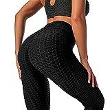Merlvida Cintura Alta Leggins Mujer Push Up Anti-Cellulite Mallas de Deporte de Mujer - Elásticos...