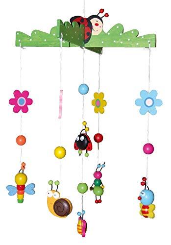 Bieco 3D Houten Mobiel | Mooie kleurrijke figuren | Ideaal voor boven de wieg of verschoontafel | Zonder batterijen | Voor baby's van 0-5 maanden.