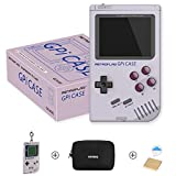 Raspberry Pi Zero and Zero W Case, Retroflag GPi CASE with Retro Handheld Game Console and Safe Shutdown - with Carring Bag, a Keychain Piece, Heatsink