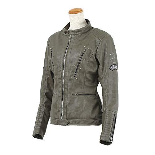 S.O.A.B バイク用ジャケット(レディース) シンセティック レザーメッシュジャケット グレー M SOAB-20