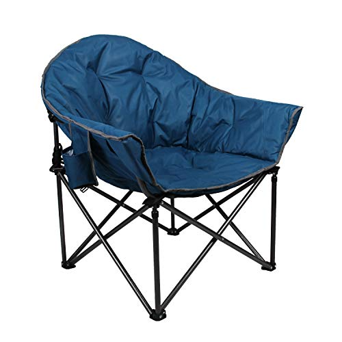 ALPHA CAMP Oversized Moon Saucer Chair with Folding Cup...
