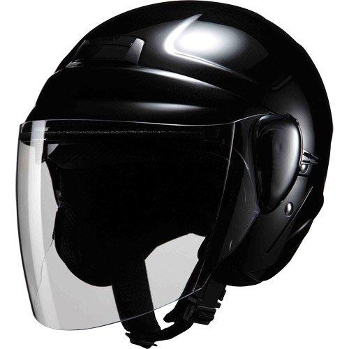 マルシン(MARUSHIN) バイクヘルメット インナーバイザー(スモーク)付き セミジェット M-530 ブラック フリーサイズ(57-60CM)