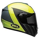 Bell SRT-Modular Adult Street Motorcycle Helmet - Presence Matte/Gloss Gray Hi Viz Yellow/Medium