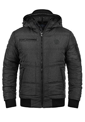 Blend Boris Teddy Herren Winter Jacke Steppjacke Winterjacke gefüttert mit Kapuze, Größe:M, Farbe:Black Teddy (75126)