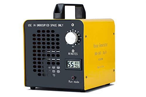 E-LINP Generatore di ozono Commerciale, purificatore d'Aria, 10.000 MG/Ora, ionizzatore Home per Stanza, Fumo, Auto e Animali Domestici - Giallo