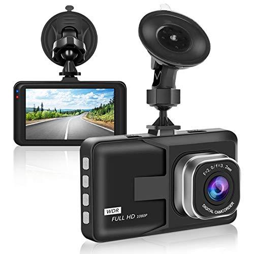 【2021 Nuova Versione】Aigoss Dash Cam Telecamera per Auto 1080P FHD con 3' Schermo LCD, WDR, G-Sensor, Registrazione in Loop, Parcheggio Monitor, Rilevatore di Movimento