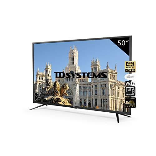 Television Smart TV 50 Pulgadas 4K, Android 9.0 y Hbbtv, UHD HDR10,...