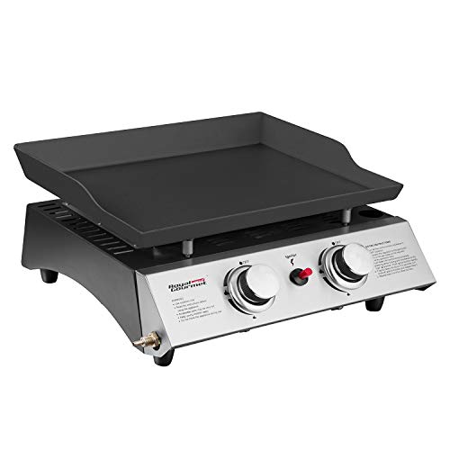 Royal Gourmet Portable 2 Burner Propane Gas Grill Griddle...