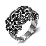 Vintage Pirate Skull Hommes Anneaux Rafraîchissez Anarchy Sons Mort de...