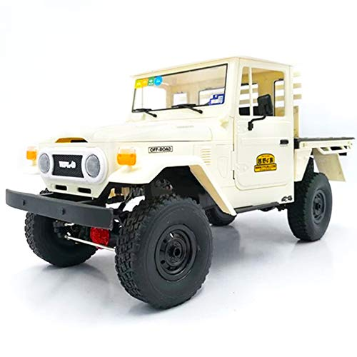 Coodio WPL C44KM 1/16 Metal Edition Kit 4Wd Climbing Off-Road Truck DIY Accessories Modified Upgrade Without ESC Battery Transmitter Receiver White