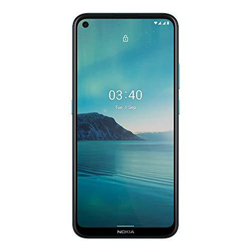 Nokia 3.4 -Smartphone 6,39'' HD+ (3GB RAM, 64GB ROM, Cámara 13MP y 15MP, Batería 4000 mAh(miliamperio-hora) , Qualcomm Snapdrago 460), Azul [Versión ES/PT]