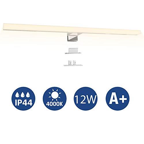 Led Spiegelleuchte, Infankey 3-in-1 Badezimmer Lampe 60CM 12W 800LM 4000K 220V, Wasserdicht IP44, Neutralweiß, Badlampe, Schminklicht, Schrankleuchte, Aufbauleuchte