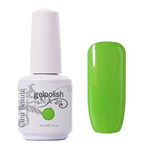 Clou Beaute Gelpolish 15ml Soak Off UV Led Gel Polish Lacquer Nail Art Manicure Varnish Color Pearl Lime 1533