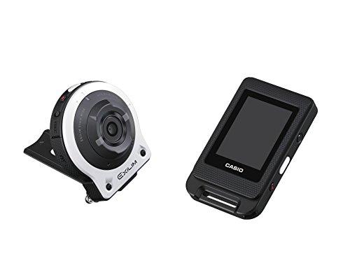 CASIO デジタルカメラ EXILIM 14.1M画素 カメラ部/コントロール部分離 フリースタイルカメラ  ホワイト EX-FR10WE