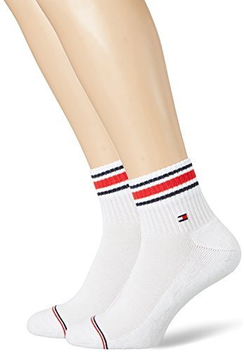 Tommy Hilfiger TH MEN ICONIC SPORTS QUARTER 2P Calzini, Bianco (White 300), 43/46 (Pacco da 2) Uomo
