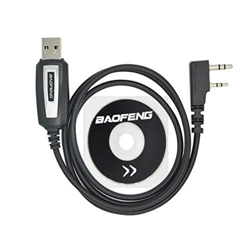 Beaums Programación reemplazo del Cable USB para Baofeng UV-5R CD de Software del Controlador UV-82 BF-888S Accesorios