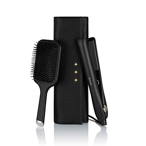 GHD - Coffret Styler Gold - Lisseur Cheveux (Noir) + Pochette Thermorésistante + Brosse