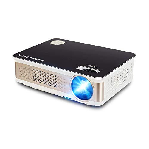"""TANGCISON Projector - 3300 LUX LED Projector, Video Projector with 150"""" and 1080P Support, Compatible with Fire TV Stick, HDMI, VGA, TF, AV and USB for Outdoor Indoor Movie/Home Cinema Theater/Game"""