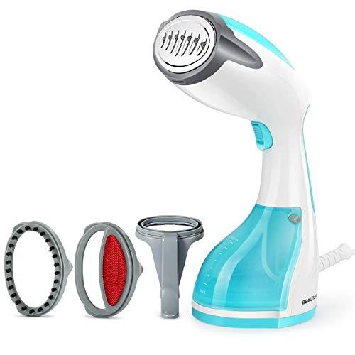 BEAUTURAL Stiratrice Portatile a Vapore, Stiratrice Verticale e Orizzontale per Casa e da Viaggio,...