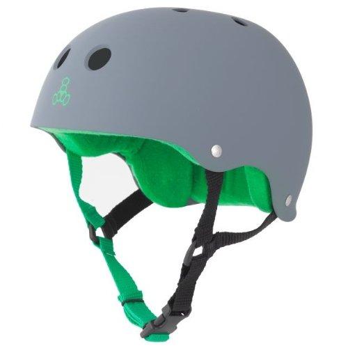 Triple Eight Sweatsaver Liner Skateboarding Helmet, Carbon Rubber, Large