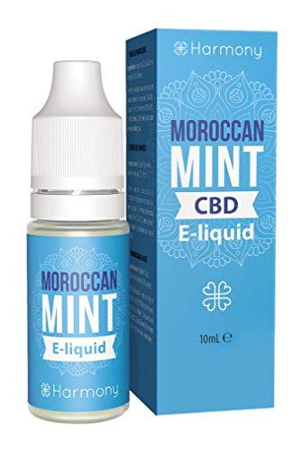 Harmony E-líquido de CBD (más de 99% pureza) - Moroccan Mint - 300 mg CBD en 10 ml - Sin Nicotina