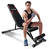 FirstE Adjustable Weight Bench, Portable Strength Training Bench, Flat Incline Decline Full Body Exercise...