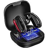 Cuffie Bluetooth Sport, Auricolari Bluetooth 5.1 Running Cuffie Wireless Auricolari in Ear Earhooks con HD CVC8.0 Microfono, IP7 Impermeabili Cuffie Senza Fili 50 Ore di Riproduzione per Correre, Nero