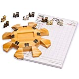 Yellow Mountain Imports Mexican Train Dominoes Accessory Set (Wooden Hub Centerpiece, Metal Train Markers, and Scorepad)