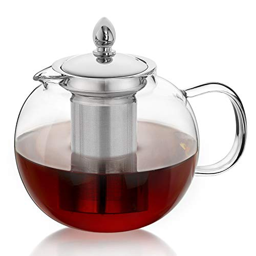 Hiware Glass Teapot Kettle with Infuser, Removable Tea...