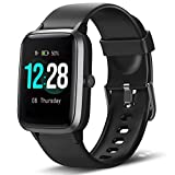 LETSCOM Smart Watch Fitness Tracker Heart Rate Monitor Step Calorie Counter Sleep Monitor Music Control IP68 Water Resistant 1.3' Color Touch Screen Activity Tracking Pedometer for Women Men