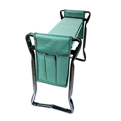 Schramm® Garten Arbeitshocker Gartenhocker beidseitige Arbeitstaschen klappbar Sitzbank Kniebank Gartenbank Erntebank Knieschutz