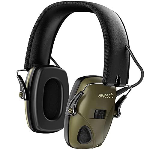 Casque de tir antibruit électronique awesafe GF01 Réduction du Bruit Maximisation du Son Sécurité Electronique Casque antibruit, Protection...