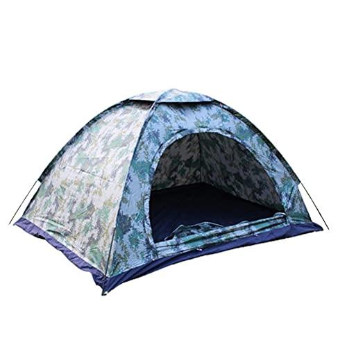 SJTJA Tente de camping d'extérieur imperméable et résistante aux UV pour 1 à 2 personnes Tente familiale légère avec grille d'aération et housse pour jardin, pêche, plage