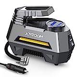 joyroom Portable Air Compressor Tire Inflator CZK-3631, Car Tire Pump with Digital Pressure Gauge (150 PSI 12V DC), Bright Emergency Flashlight - for Auto, Trucks, Bicycles, Balls