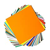 Permanent Adhesive Backed Vinyl Sheets by EZ Craft USA - 12' x 12' -...