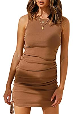 SOFT FINE RIBBED KNIT FABRIC - Quality Ribbed Knit Fabric Promises This Women's Dresses Is Thick Enough To Not See Through; It's Comfortable For All Day Wearing Even In The Hot Summer Day Thanks To Moderate Thickness, Not Too Thick, Lightweight And B...