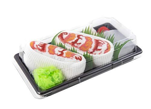 Rainbow Socks - Donna Uomo - Calzini Sushi Shrimp Nigiri - 1 Paia - Taglia 36-40