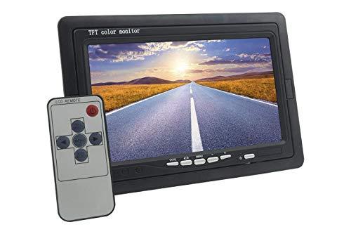 tiempo de ventas Monitor LCD de coche de 7,0 pulgadas con control remoto 2 entradas AV para videovigilancia