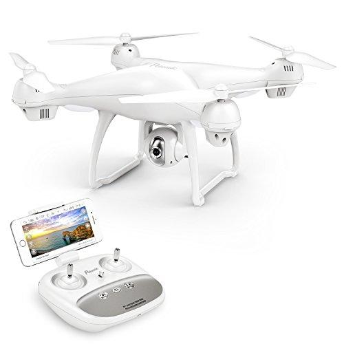 Potensic Drone GPS con Telecamera 1080P Drone T35 Dual GPS con Grandangolare-Regolabile Camera HD WiFi FPV Quadricottero Funzione Seguimi, Altitudine Attesa, Controllo di pi Lunga Distanza