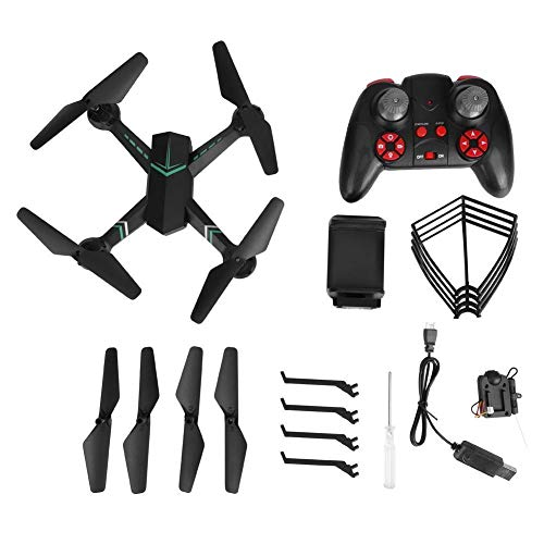F8W 2.4GHz telecomando Quadcopter 0.3MP macchina fotografica di Wifi Altitudine attesa RC Drone giocattolo (nero)