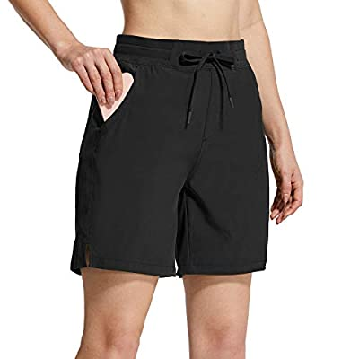 Mid-high Waistband Design: 2.2 INCH long: Skin-friendly and soft frabic offers a smooth, super comfortable, low-friction performance. Adjustable drawcord for a custom fit. Flexible: 7 Inches shorts to provide in unrestricted freedom of movement durin...