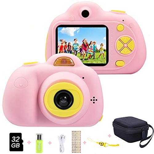 ToyZoom Macchina Fotografica per Bambini, Bambina Fotocamera Digitale Portatile Selfie Videocamera per Bambine 2 Pollici LCD / 1080P HD / 18MP (Rosa)