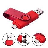 Clé USB 32Go 3 en 1 Type-C Micro USB et USB 2.0 Pivotant Mémoire Stick...